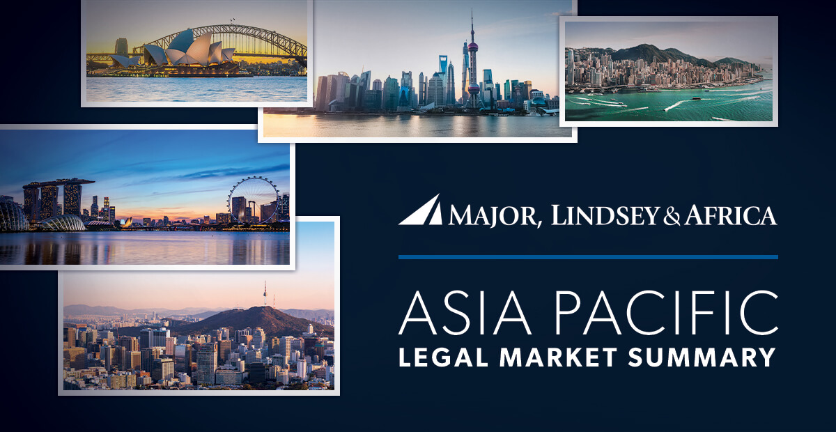 Asia Pacific Legal Market Summary And Partner Moves - July 2019