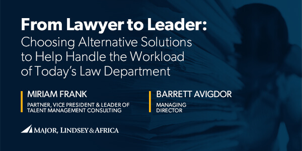 In-House Counsel Recruiting | Major, Lindsey & Africa